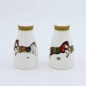 Porzellan Salz- und Pfefferstreuer God Horses Desi Bone in Salzflasche Pfefferflasche Knochensalz Pfeffer