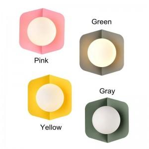 Schöne grüne gelbe einfache kreative geführte Lampe des Nachttischdekorationslicht-Wohnzimmerkorridors E27 der postmodernen Makronenwandlampe