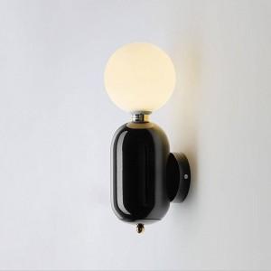 Post moderne Wandleuchte schwarz weiß gold Farbe einfach kreative Nacht Deko Licht Wohnzimmer Korridor Wandleuchte