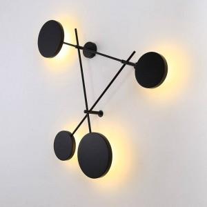 Post Morden Nordic Wandleuchten LED Innen Kreative runde Platte Schwarze Wandleuchten Kurze Wandleuchte Beleuchtung Lamparas de Pared