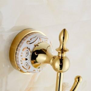 Praktische Haken Badzubehör Designer Europäischen Chrom / Goldene Kleiderhaken, Kleiderhaken, Kleiderhaken Badezimmer Badezimmer 9086K