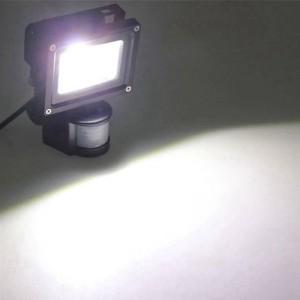 Förderung 4 teile / los pir 10 watt led flutlicht wasserdicht scheinwerfer garage sicherheit motion sensor zeit lux einstellbare ac85v-240v in