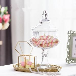 Kürbisglasgläser Qualitäts-Süßigkeitsglaslebensmittel mit kreativen Dosenverzierungen des Deckellagertankflaschenbehälter-Vasenhochzeitsfestes