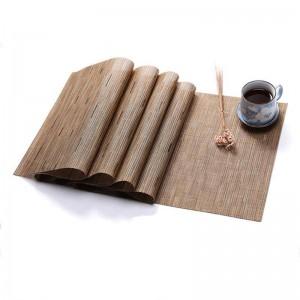 PVC Reine Farbe Essen Matte Bambuswebart Tischset Umweltschutz Isolierung Heimtextilien Matte Tischdekoration