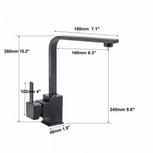 Quarz Messing Küchenarmatur Waschbecken Waschtischarmaturen Mischbatterie Wasserhahn 360 Schwenkkranhähne 5 Farbe 8008 Wasserhahn