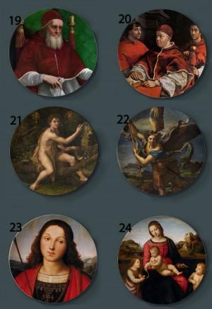 Raffaello Sanzio Gemälde dekorative Platten Home Artistic Dish Hotel Hintergrund Display Unsere Dame und Kind Ölgemälde Platten