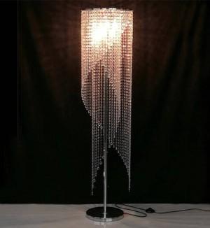 Lesesaal führte moderne Kristallstehlampe Wohnzimmer Arbeitszimmer Kristallbodenlicht Bibliothek Kunstsalon führte Standlichter Abajur