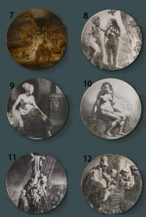 Rembrandt Harmenszoon van Rijn, der dekorative Platten-niederländische keramische künstlerische Hauptteller-Hotel-Hintergrund-Anzeigen-Platte malt