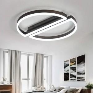 Fernbedienung LED-Deckenleuchte rund weiß schwarz Ultradünne Acryllampe für Wohnzimmer Schlafzimmer Leuchte Wohnzimmerleuchten