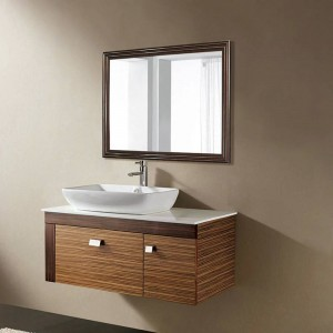 Retro schwarz Nussbaum Badezimmerspiegel Wand Wohnzimmer Schlafzimmer Kosmetikspiegel wx8221537