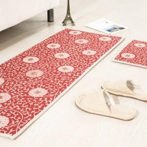 Retro Blumen Muster MAT Quadrat Kissen Küche Tür Pad Bad rutschfest entfernen Staub Fußmatten Tisch Teppich Bettwäsche Matten Teppiche