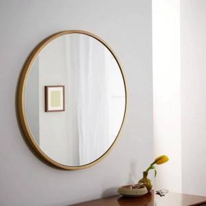 Retro einfaches Metall runder Badezimmerspiegel an der Wand befestigter Hauptschlafzimmerspiegel-Frisierkommode-Schminkspiegel mx3011118