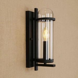 RH kreative Glas Eisen Wandleuchte modernen ländlichen pastoralen Stil Leuchte für Restaurant Café Gang Wohnzimmer Deko Wandleuchten