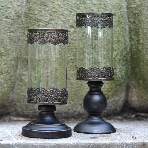 Romantisches Candlelight Dinner Kerzenhalter Nachtlicht Metall Eisen Kunst / Glas Kerzenhalter Blumentopf Party Cafe Dekoration Handwerk