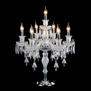 Romantische Mode Hochzeitsdekor Tischleuchten für Schlafzimmer Nacht Wohnzimmer Led E14 Luxus hochwertige Kristall Tischlampe