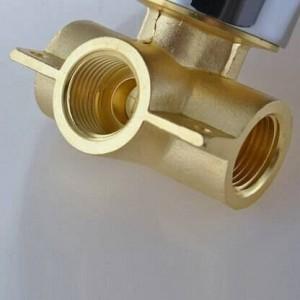 Rundes Duschmischventil Verdeckte Bad Badewanne Chrom Messing Duschpaneel Wasserhahn