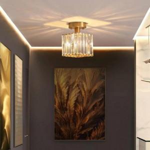 Rustikales Treppenhaus führte Deckenleuchtekristallportallicht für Flurbahn geführte spotLight kupferne Küche Stabdeckenbeleuchtung