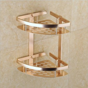 Sektor Doppelschicht Lagerregal Regal Luxus Gold Wand Küche Bad Turm Shampoo Lagerregale Organizer