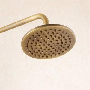Duscharmaturen Antik Messing Duschset Wasserhahn Wanne Mischbatterie Handbrause Wandmontage Regendusche Bad Kran Dusche LAD-6821