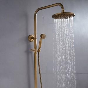 Duscharmaturen Antike Farbe Bad Wasserhahn Messing Bad Niederschlag Mit Spray Duschkopf Europa Wasserhahn Bad Dusche Set XT368