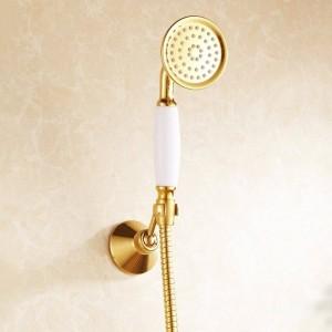 Duscharmaturen Messing Luxus Gold Badewanne Armaturen Regen Dusche Hand Bad Sanitär Wandmontage Dusche Mischbatterie Sets HJ-6758