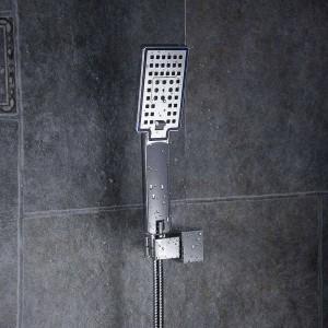 Duschköpfe ABS-Kunststoff Wandmontage Regenduschkopf Handheld ultradünne quadratische Regenbrause Wasserhahn ohne Arm FS236