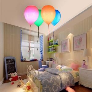 Einfaches Kinderzimmer-Licht, Ballon-Deckenleuchte-Schlafzimmer-Jungen und Mädchen studieren kreatives Restaurant geführte Deckenleuchte