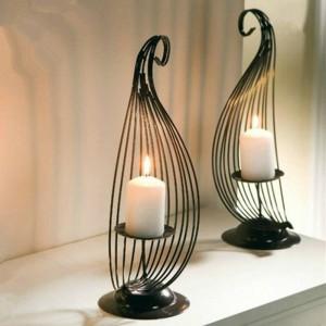 Einfache Mode kreative Einrichtungs Eisen Kerze Kerzenhalter Bar personalisierte Desktop Dekoration Hochzeitsdekoration