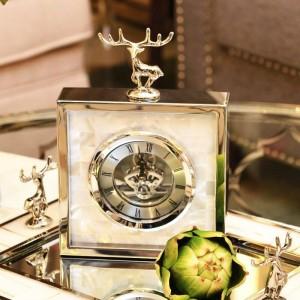 Einfache Moderne High-End-Uhr Europäischen Wohnzimmer Metall Kreative Tischuhr Shell Deer Clock Pendel Tisch Neue Produkte