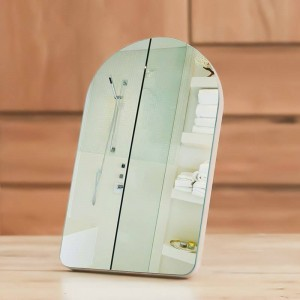 Einfacher hölzerner Kosmetikspiegel tragbarer Schlafsaalspiegel Hauptdesktop oder an der Wand befestigter Kosmetikspiegel Prinzessin für Mädchen mx01111351