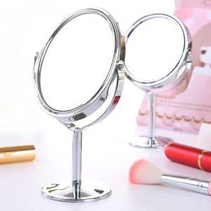 Kleine Make-up Spiegel Desktop runden ovalen Tisch Spiegel einfache Damen Haushalt Metall rotierenden doppelseitigen Kosmetikspiegel mx318094