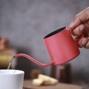 Kleine Edelstahl Kaffee Moka Kanne Maker Long Drip Typ Kettle Schaummilchkännchen Mini TeaPot Espresso Cafetiere 250ml 350ml