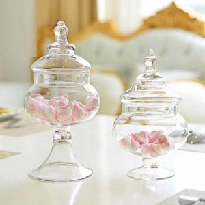 Kleine transparente Glas Candy Glas Wohnzimmer Dekoration Vorratsbehälter Hochzeit Shop Layout Glasdosen Zuckerdose