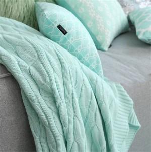 Soild Farbe Bett Sofa Travel Mantas Wolle werfen Strickdecke Hause Baumwolle Sommer Frühling Hanf Blumen Klimaanlage Decke