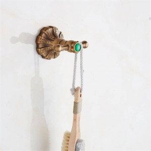 Massivem Messing traditionelle Kleiderbügel schnitzen antike Bronze Bad Hut Handtuch Haken Kleiderbügel Wandhalterung 9081K