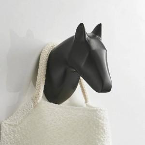 Massive Pferdeantilopen Kopf Kleiderhaken Wandmontage Handtuchhaken Gold / Schwarz lackiert Kleiderhaken Badezimmer Hardware