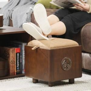 Massivholz Aufbewahrungshocker Aufbewahrungshocker können Erwachsenen Haushalt Massivholz Aufbewahrungsbox multifunktionale Schuhbank sitzen
