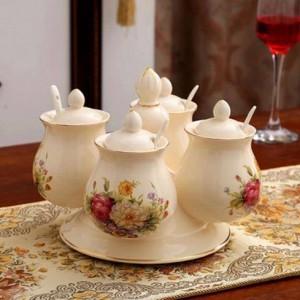 Gewürzglas-Kombination Rotierende Keramikgewürze und Pfefferstreuer Salzglas-Set Küchenhelfer Aufbewahrungsbox zum Würzen