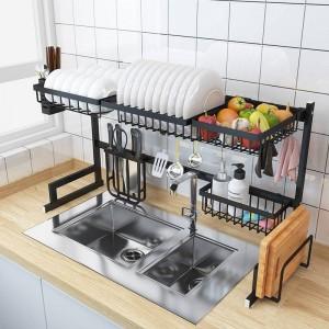 Edelstahl Spüle Rack Dish Organizer Utensilien Storage Supplies