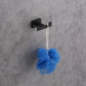 Edelstahl Einzel Kleiderhaken Wand Handtuchhaken Schwarz lackiert Kleiderhaken Badezimmer Hardware
