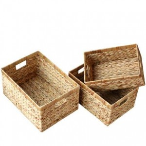 Aufbewahrungskorb Rattan Aufbewahrungskorb Aufbewahrungsbox Stroh Aufbewahrungskorb ohne Deckelbox