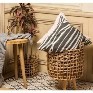 Aufbewahrungskorb Stroh Rattan handgemachte Algen nordischen Stil Blumenkorb Vase moderne Home Deco