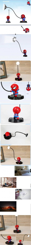 Super Spiderman Avengers Union 3 Led Nachtlicht Harz Handwerk Kinder Hause Desktop Tischlampe Figuren Geburtstag Weihnachten Hochzeitsgeschenke