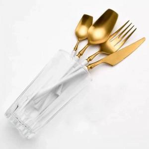 Geschirrset Edelstahl Besteckset Western Food Geschirr Luxusgabel Teelöffel Messer Besteckset Drop Shipping