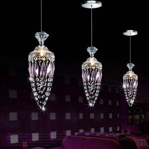 Das Schlafzimmer des Jugendlichen, das purpurrote Kristallbeleuchtung für purpurrote Lampe Cristal G4 der Esszimmer-Restaurant-Bar-modernen Hochzeits-Dekoration hängt