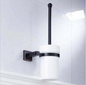Die neue kupfer material schwarz bronze platz bad hardware anhänger toilettenbürste sauber toilettenbürste keramik tasse 9036k