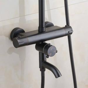 Thermostat Schwarz Thermostat Duschset Duscharmatur warm und kalt Duscharmatur Badewanne Thermostat Brausebatterie XT407