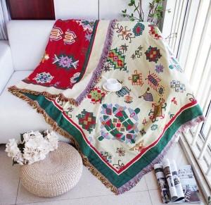 Verdickung Geometrie Decke Weihnachten dekorative Cobertor Manta Para Sofa / Betten Travel Plaid rutschfeste Nähte Decken
