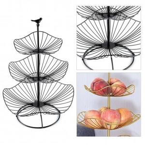 Drei Schichten Eisen Kunst Obst Ablagekorb Home Organizer Schüssel Für Gemüse Snacks Süßigkeiten Küchentisch Esszimmer Dekoration Werkzeug
