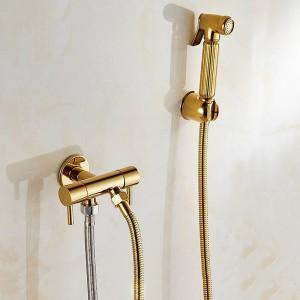 WC Bidet Winkel Kupfer Single Cold Badezimmer WC Dusche Blow-Fed Spritzpistole Düse Bidet Wasserhahn Badezimmer Hardware 8075